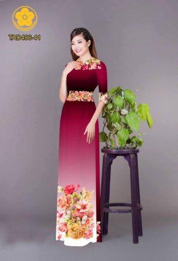 Vải áo dài hoa đẹp được thiết kế đôc đáo của Vải Áo Dài Kim Ngọc19