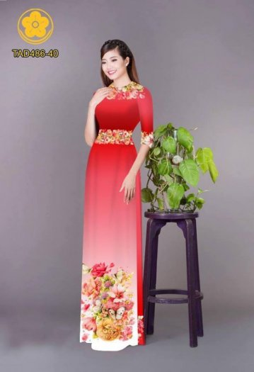 Vải áo dài hoa đẹp được thiết kế đôc đáo của Vải Áo Dài Kim Ngọc22