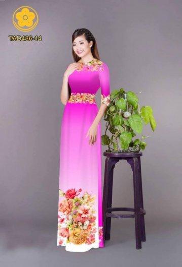 Vải áo dài hoa đẹp được thiết kế đôc đáo của Vải Áo Dài Kim Ngọc24