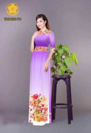 Vải áo dài hoa đẹp được thiết kế đôc đáo của Vải Áo Dài Kim Ngọc25
