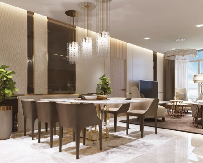 Cần bán căn hộ 2PN thuộc dự án Vinhome Ba Son, 78.5 m2, thuộc tòa Aqua 2, ngay trung tâm Q1
