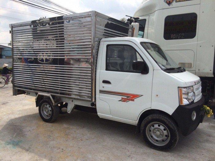 Giá bán xe tải dongben 770kg thùng kín - xe tải dongben thùng kín 2m5 giá rẻ