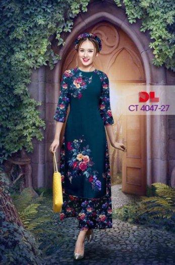 Vải áo dài cách tân bộ, độc đáo với hoa nguyên quần trông lạ mắt của Vải Áo Dài Kim Ngọc.0