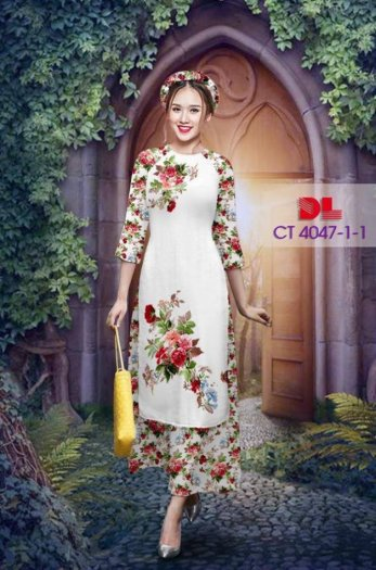 Vải áo dài cách tân bộ, độc đáo với hoa nguyên quần trông lạ mắt của Vải Áo Dài Kim Ngọc.8