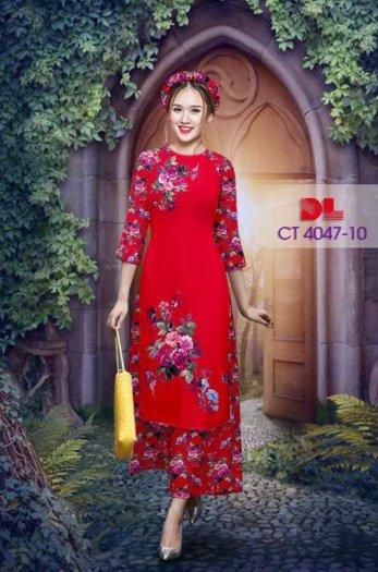 Vải áo dài cách tân bộ, độc đáo với hoa nguyên quần trông lạ mắt của Vải Áo Dài Kim Ngọc.16