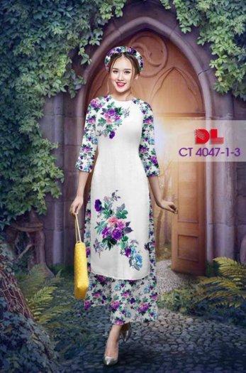 Vải áo dài cách tân bộ, độc đáo với hoa nguyên quần trông lạ mắt của Vải Áo Dài Kim Ngọc.17
