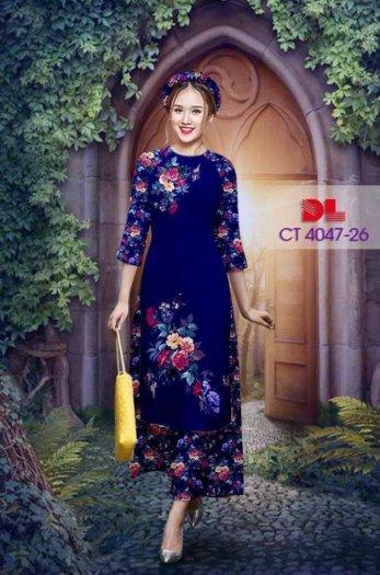Vải áo dài cách tân bộ, độc đáo với hoa nguyên quần trông lạ mắt của Vải Áo Dài Kim Ngọc.29
