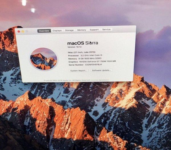 Macos Sierra 27inch Chip Intel Corei5, Ram 8gb Mới 99,9% Bao Đẹp1