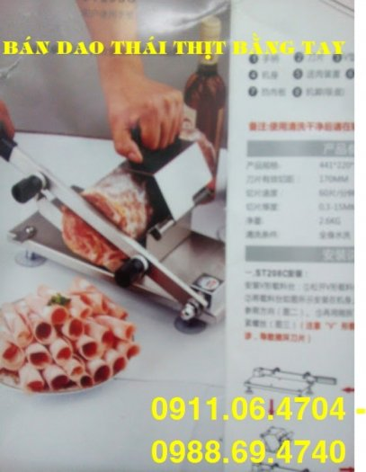 Mua máy thái thịt đông lạnh bằng tay ST200 giá rẻ nhất hà nội2