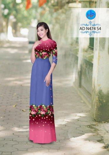 Vải áo dài phối màu Đẹp - lạ - sang của vải Áo Dài Kim Ngọc3