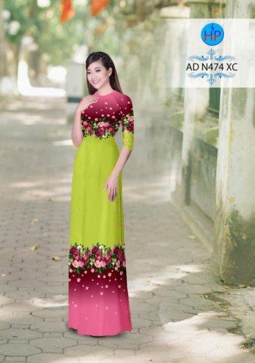 Vải áo dài phối màu Đẹp - lạ - sang của vải Áo Dài Kim Ngọc4