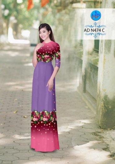 Vải áo dài phối màu Đẹp - lạ - sang của vải Áo Dài Kim Ngọc8