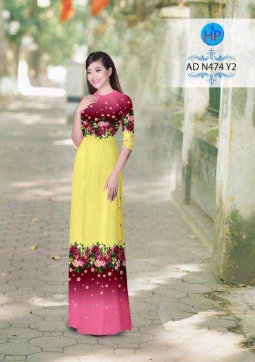 Vải áo dài phối màu Đẹp - lạ - sang của vải Áo Dài Kim Ngọc9