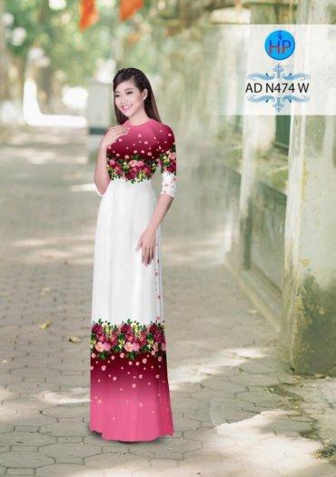 Vải áo dài phối màu Đẹp - lạ - sang của vải Áo Dài Kim Ngọc1