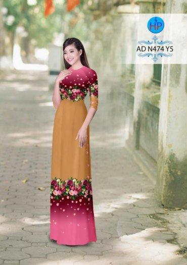 Vải áo dài phối màu Đẹp - lạ - sang của vải Áo Dài Kim Ngọc20