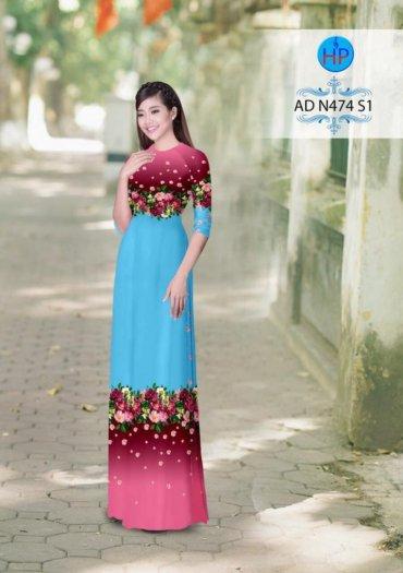 Vải áo dài phối màu Đẹp - lạ - sang của vải Áo Dài Kim Ngọc17