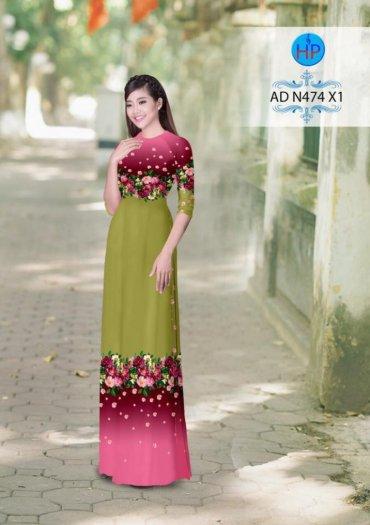 Vải áo dài phối màu Đẹp - lạ - sang của vải Áo Dài Kim Ngọc23