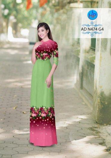 Vải áo dài phối màu Đẹp - lạ - sang của vải Áo Dài Kim Ngọc24