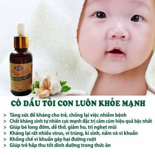 Dầu tỏi Diệp Chi - Phòng, Trị ho, Cảm cúm cho bé