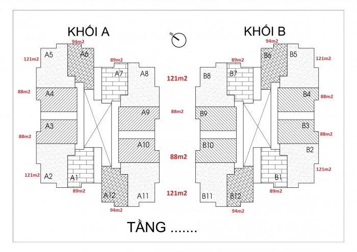Suất ngoại giao căn hộ Thống Nhất Complex, DT 88m2 giá 31.5tr/m2