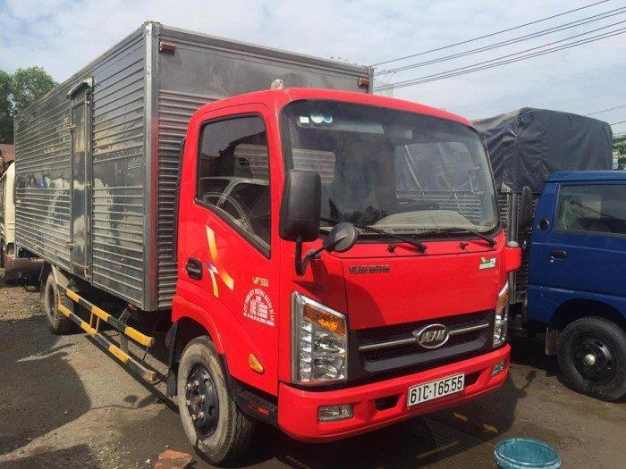 Xe tải weam vt260 thùng kín dài 6m2 hạ tải vào tp