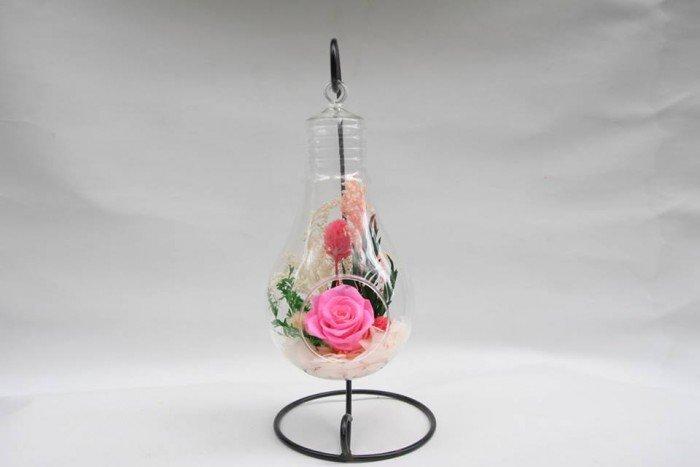 hoa hồng bất tử lọ thủy tinh treo 1 bông3