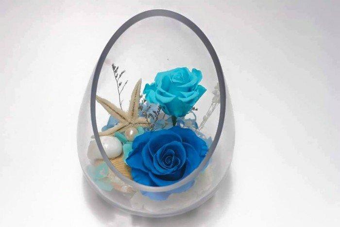 hoa hồng bất tử lọ xéo - tone xanh7