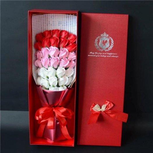 Hộp hoa sáp 33 bông cao cấp - Gía bán 400k (đỏ)4