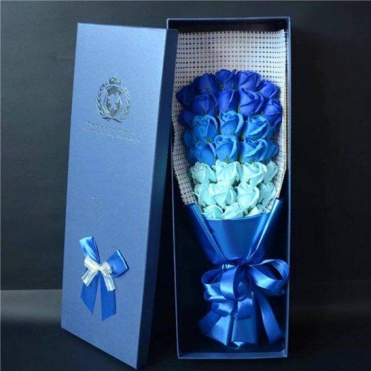 Hộp hoa sáp 33 bông cao cấp - Gía bán 400k (xanh)6
