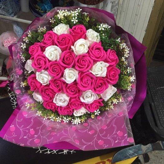 Bó hoa sáp 33 bông cao cấp -  Gía bán 400k (hồng)11