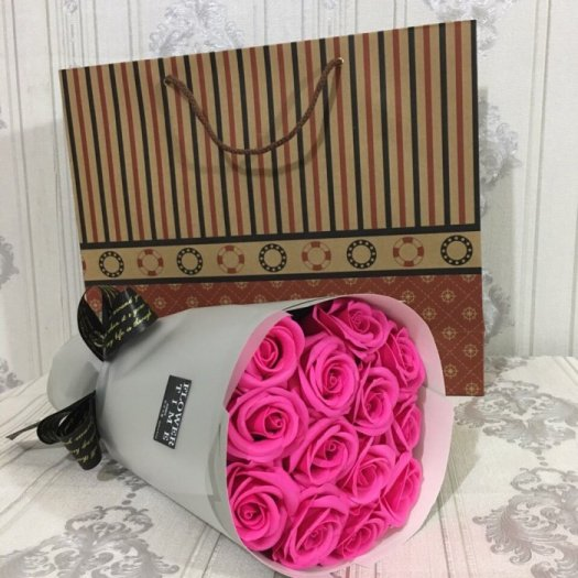 Bó hoa sáp 11 bông - Gía bán 150k (hồng sen)14