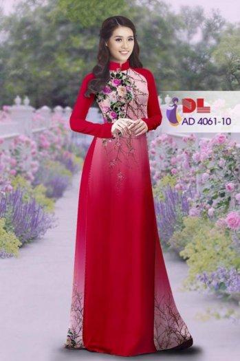 Vải áo dài mang hình ảnh mùa hè. Mùa hè đến...mang nhiều cảm xúc.Hoa nhẹ nhàng,nổi bật và đẹp quá ạ!7