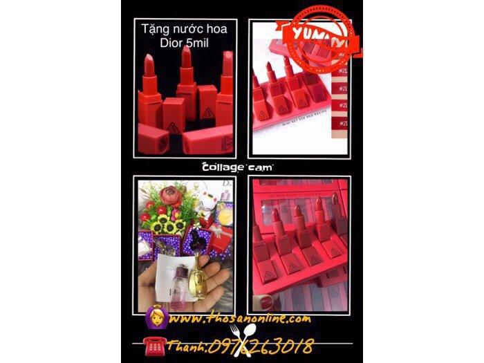 Loa.. loa.. Khi mua Bộ  sản phẩm 3CE Màu Đỏ mini (Tặng nước hoa Dior ) nhanh tay lên nào bạn nhé