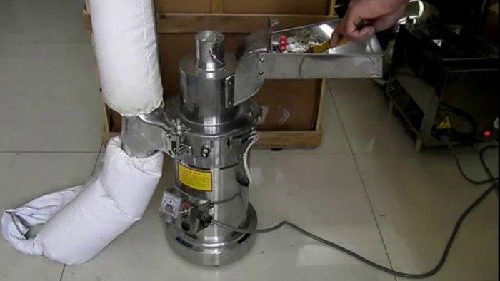 Cung cấp máy xay thuốc bắc dạng búa, máy nghiền tam thất DF15 (15kg/giờ) giá rẻ.0