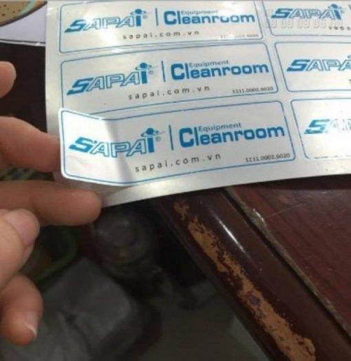 n tem nhãn giá rẻ trên chất liệu decal bạc làm tem nhãn quảng cáo chất lượng cao tại InKyThuatSo