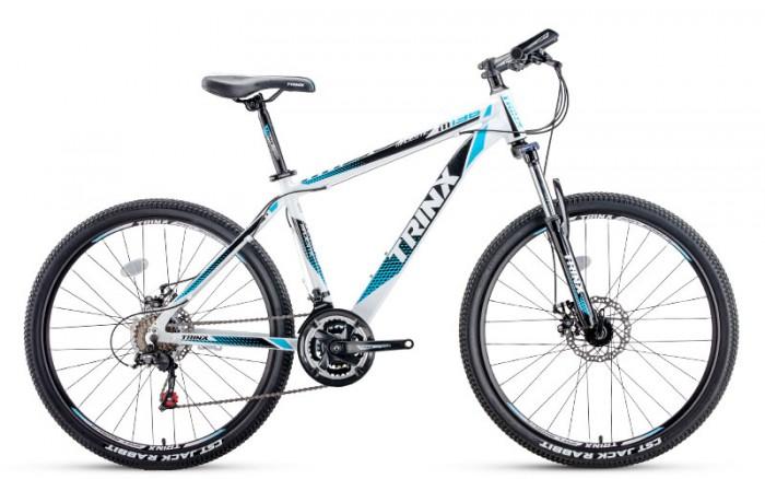 Xe đạp Trinx M136 2017, mới 100%, miễn phí giao hàng, màu trắng xanh dương