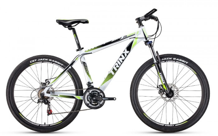 Xe đạp Trinx M136 2017, mới 100%, miễn phí giao hàng, màu trắng xanh lá