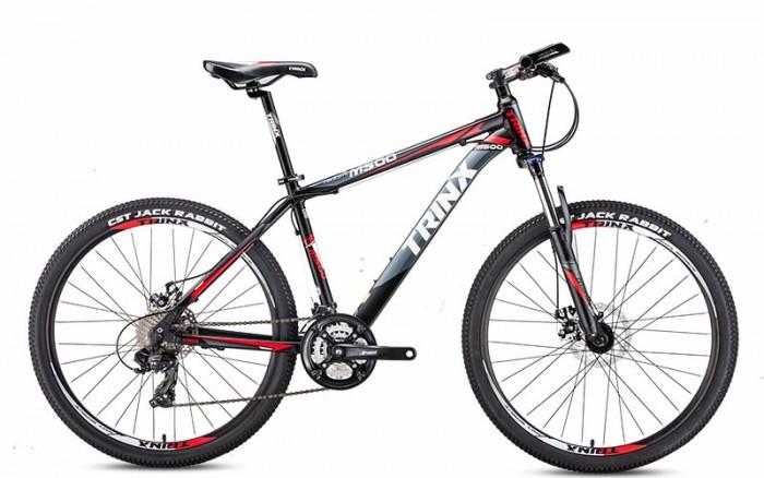 Xe đạp Trinx M500 2017, mới 100%, miễn phí giao hàng, màu đen ghi
