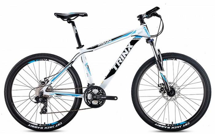 Xe đạp Trinx M500 2017, mới 100%, miễn phí giao hàng, màu trắng xanh dương