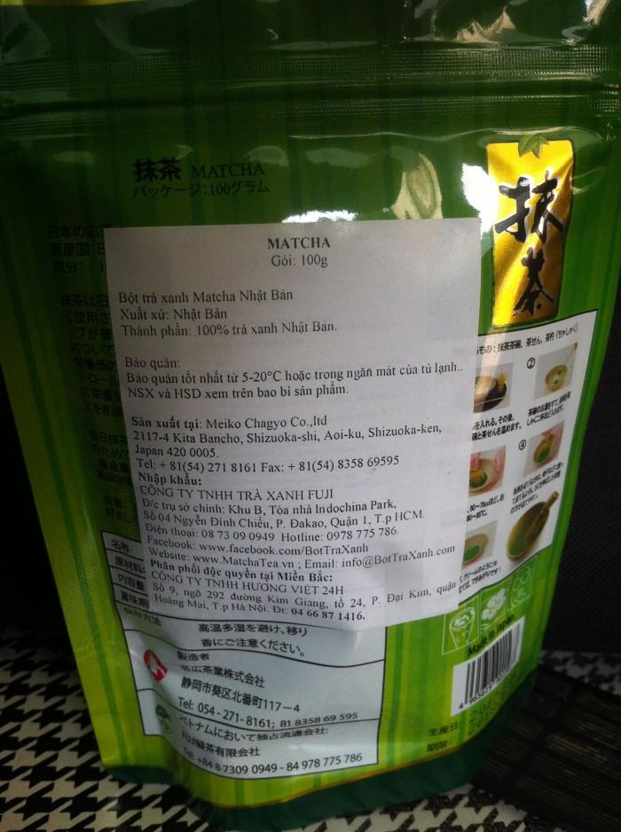 Bột trà xanh matcha Nhật Bản2