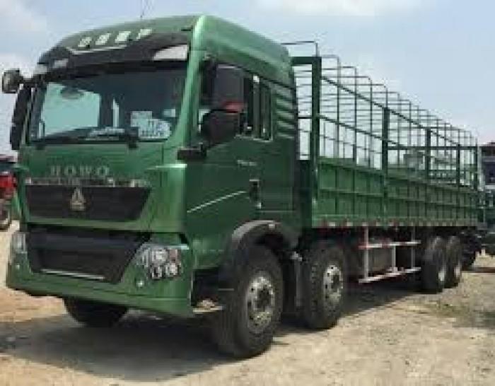 Bán Xe tải thùng 4 chân Howo 371, 375, A7 tải trọng 17-17,9 tấn 2016, 2017