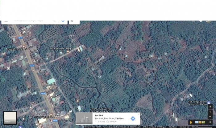 Bán nhà, đất 1952m2, ấp 2, xã Lộc Thái, Lộc Ninh, Bình Phước