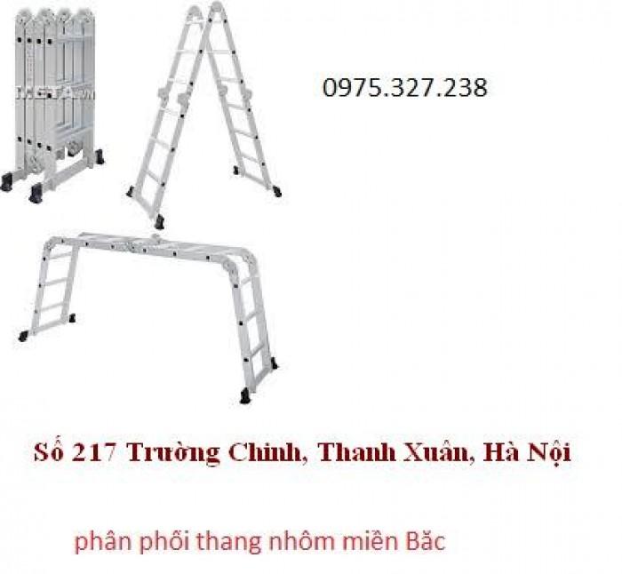 Thang nhôm gấp đoạn, thang gấp 4 đoạn, thang nhôm gấp khúc, thang nhôm chuyên dùng lắp điều hòa7