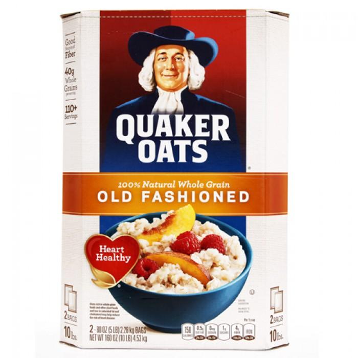 Yến mạch nguyên hạt Quaker Oats từ Mỹ - thực phẩm dinh dưỡng hiệu quả cho giảm cân0