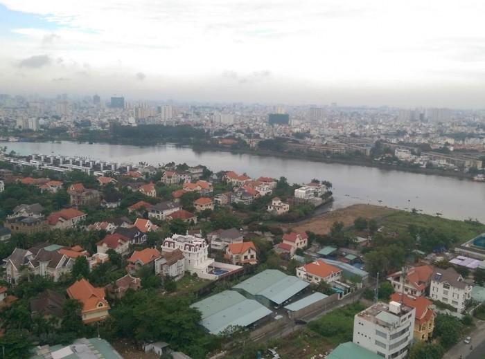 Cho thuê căn hộ tropic garden 2pn giá 1000 usd tầng cao view sông