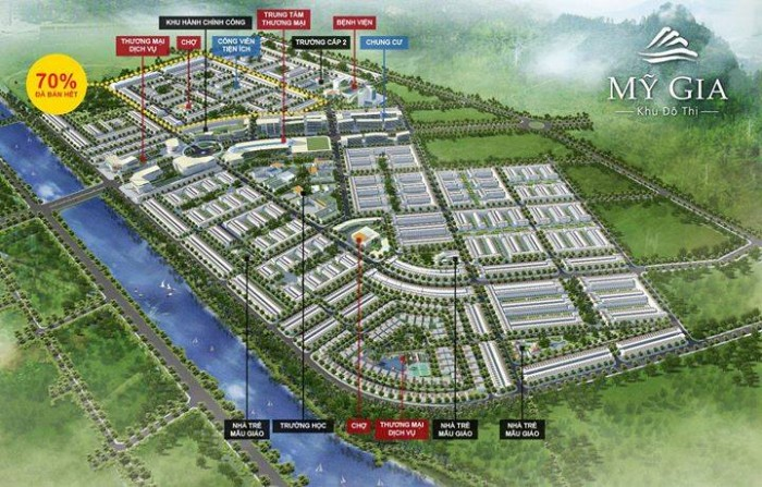 Bán 10 lô đất tại khu đô thị Mỹ Gia gói 7 với giá ưu đãi mạnh