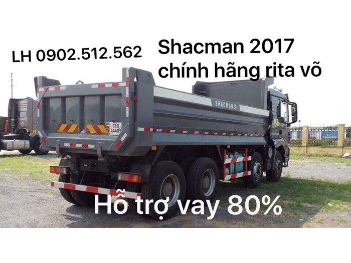 Xe ben shacman 4 chân giá bao nhiêu 0