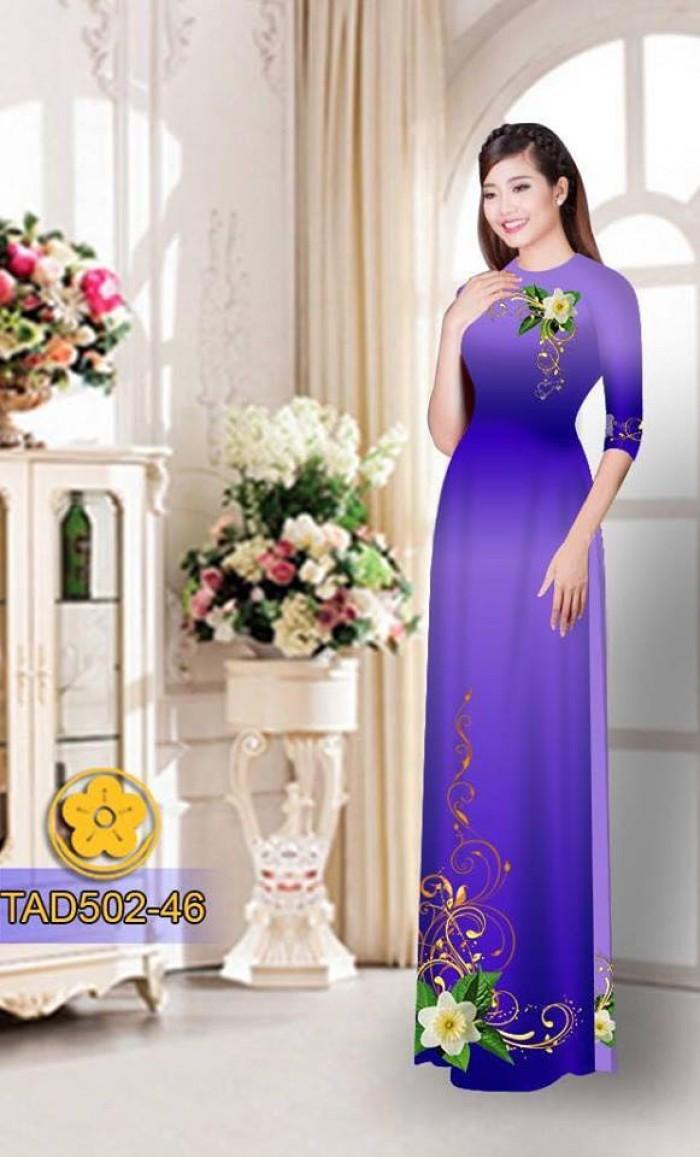 Vải áo dài hoa đẹp3