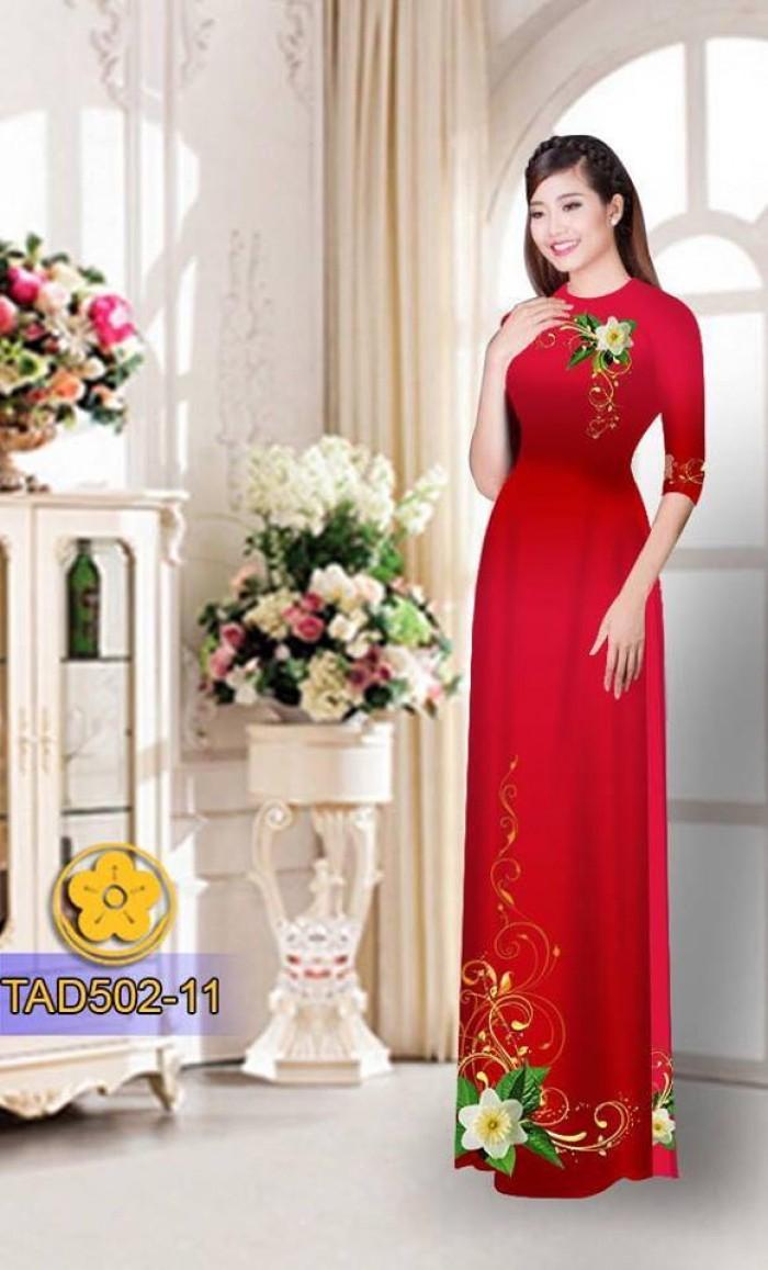 Vải áo dài hoa đẹp10