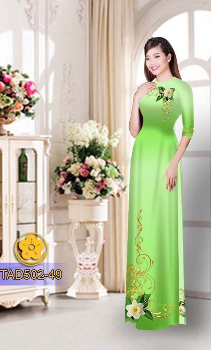 Vải áo dài hoa đẹp11